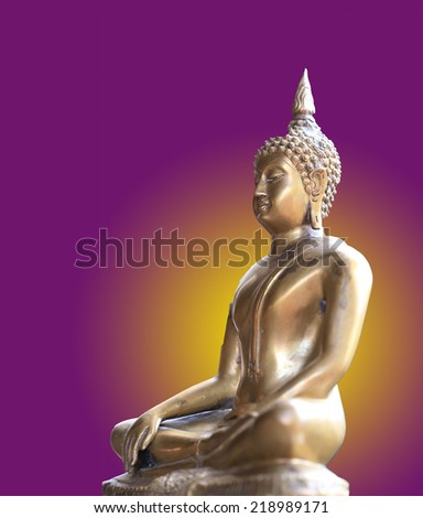 Buddha in color background