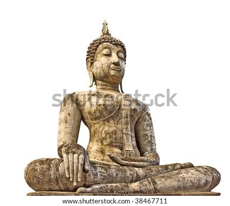 Buddha in Sukhothai historical park, Thailand. - stock photo