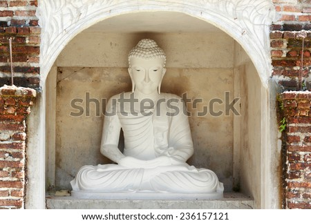 Buddha in temple of Thailand. - stock photo