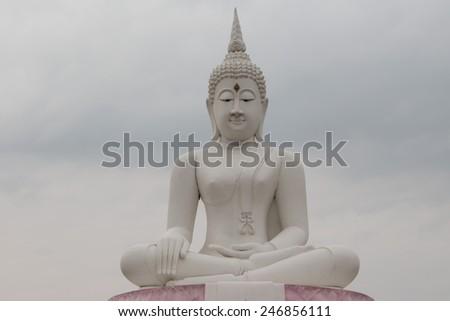 buddha in Thai temple - stock photo