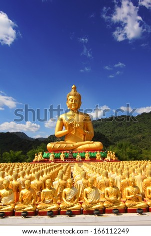 Buddha in Thailand A place of public worship. - stock photo
