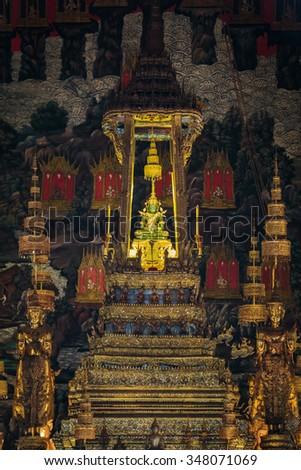 Buddha in Thailand is very beautiful. - stock photo