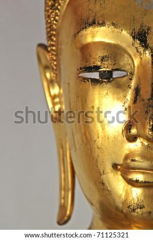 Buddha portrait close up of eye - stock photo