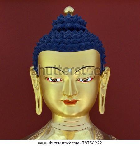 Buddha`s head sculpture - stock photo