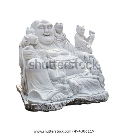 Buddha (Sangkat Ja) sculptor makes a sculpture of white marble.