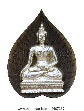 Buddha sitting on a leaf - stock photo