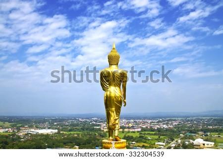 Buddha standing,Wat Phra That Khao Noi, Nan Province, Thailand - stock photo