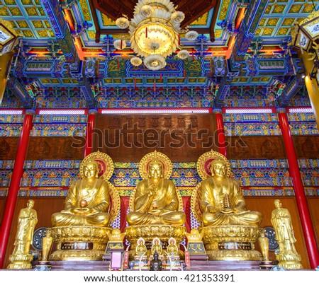 Buddha statue at temple - stock photo