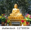 Buddha Statue at temple in Xian, China. - stock photo