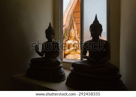 Buddha statue at Tiger Cave Temple  - stock photo