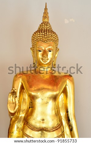 Buddha statue at Wat Pho, Bangkok( Art in a temple in Thailand, there is no copyright notice)
