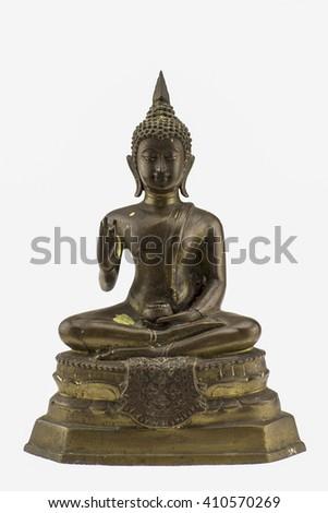 Buddha statue,Buddha image style pagoda. - stock photo