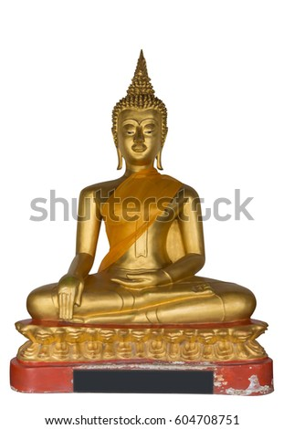 Buddha Statue on isolated.
