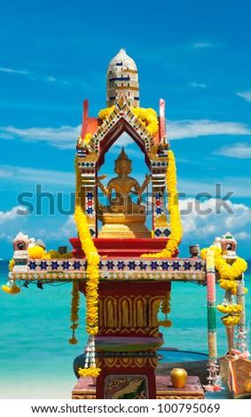 Buddha statue, Phi Phi Island, Thailand - stock photo