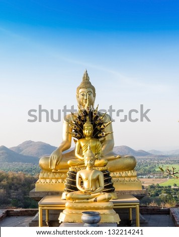Buddha statue Phrabuddhachay Temple Saraburi, Thailand. - stock photo