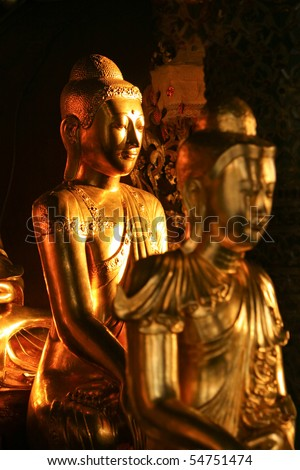 Buddha Statue taken from Shwedagon Pagoda Burma - stock photo