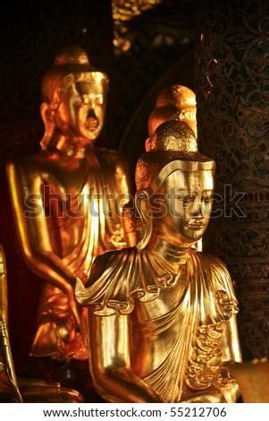 Buddha Statue taken from Shwedagon Pagoda Burma - stock photo