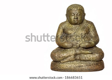 Buddha statue thai art isolated on white background