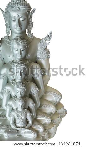 Buddha statue White background - stock photo