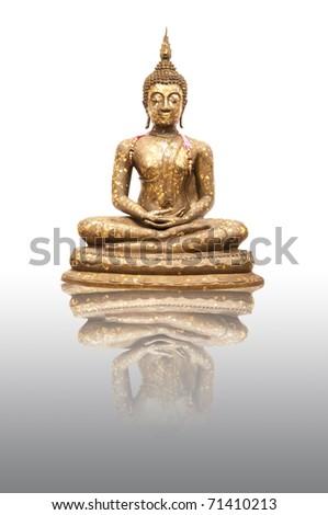 Buddha Statue with reflection - stock photo