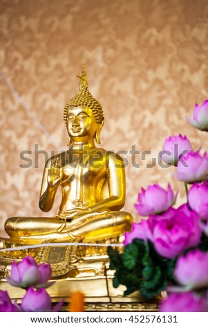Buddha statues at the ceremony  - stock photo