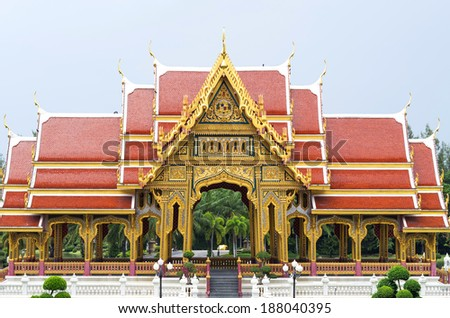 Buddha style pavilion - stock photo