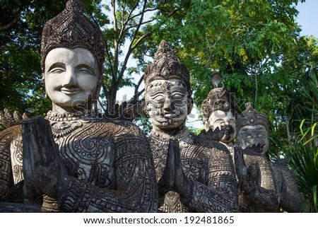 buddha temple Nong Khai,Thailand - stock photo