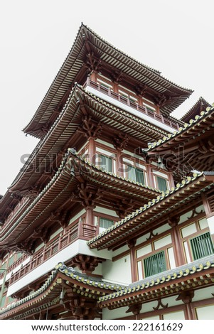 Buddha Tooth Relic Temple in Singapore Chinatown - stock photo
