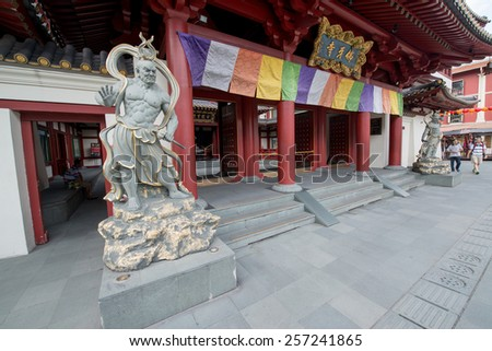 Buddha Toothe Relic Temple in Chinatown in Singapore - stock photo