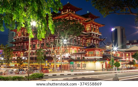 Buddha Toothe Relic Temple in Chinatown  Singapore