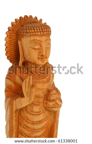 Buddha wood carving.