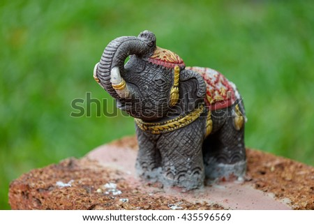 buddhist elephant decoration statue