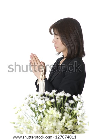 Buddhist memorial service, - stock photo