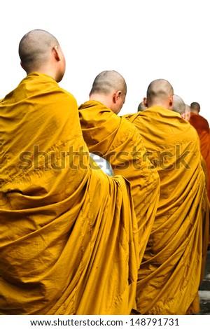 Buddhist monk - stock photo