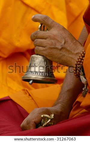 buddhist monk - stock photo