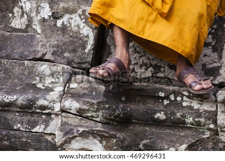 Buddhist monk in Angkor Wat