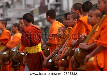 Buddhist Monks - stock photo