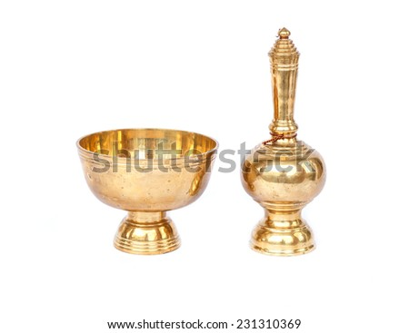 Buddhist's Grail isolated on white background