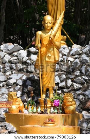 Buddhist statue, Thailand. - stock photo