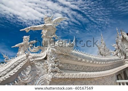 buddhist temple - stock photo