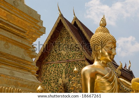 Buddhist temple at Doi Suthep in northern Thailand