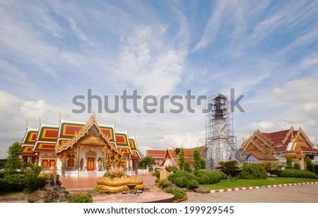 Buddhist Temple at Thailand  - stock photo