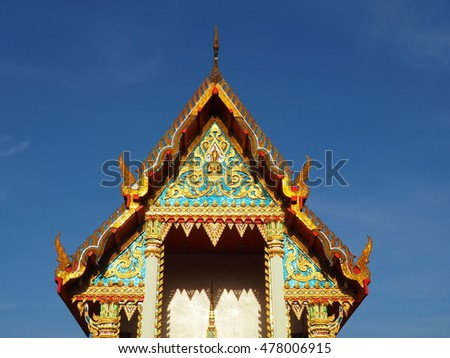 Buddhist temple bathed in the morning sunlight