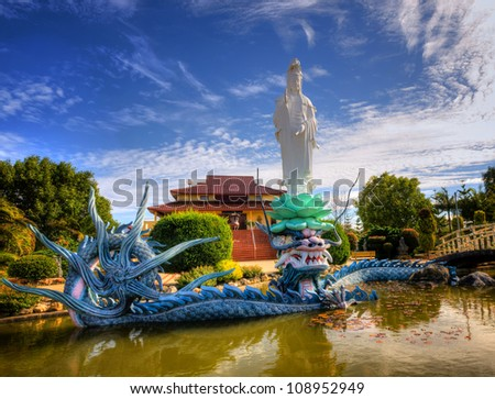Buddhist Temple & Garden - stock photo