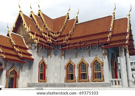 Buddhist temple in Bangkok - stock photo