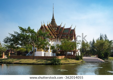 Buddhist temple in Samut Prakan province, Thailand