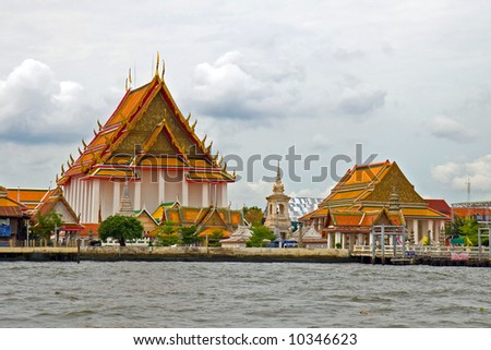 Buddhist temple in Thailand. - stock photo