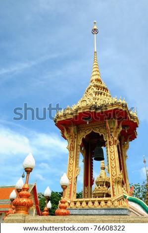 buddhist temple in Thailand island Phuket - stock photo