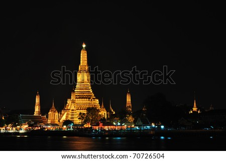 Buddhist temple in the Bangkok