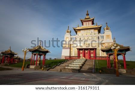 Buddhist Temple. Kalmykia Elista - stock photo